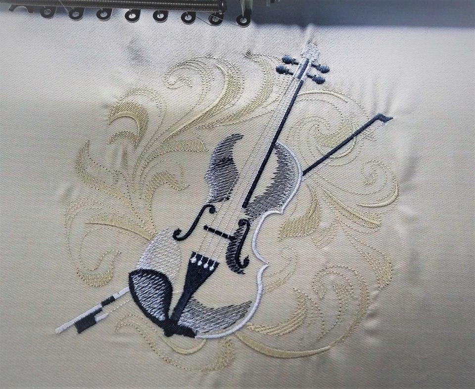 Бродерия цигулка