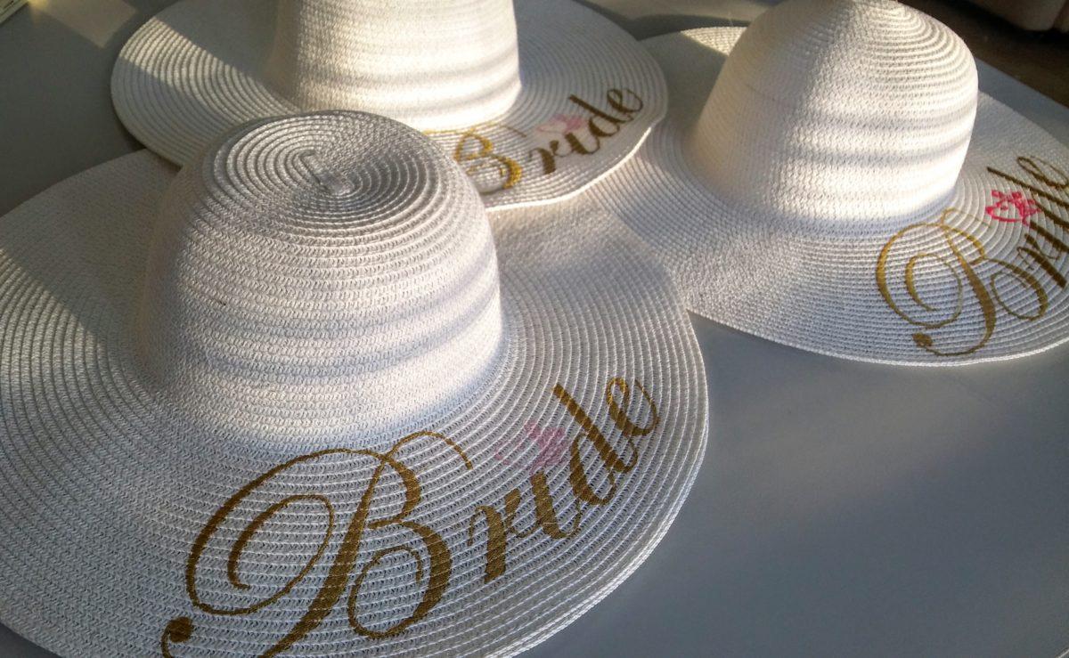 Бродерия върху сватбени шапки
